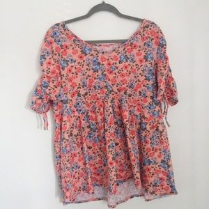 Woman within floral babydoll top size 22/24